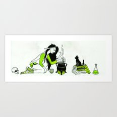 brewing a potion Art Print
