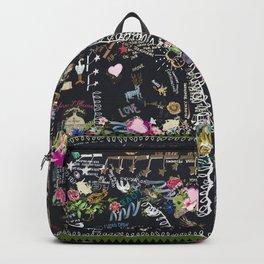 Black tree of life garden Backpack