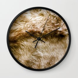 Fluffy Fur (NOT REAL FUR/PHOTO OF FUR) Wall Clock