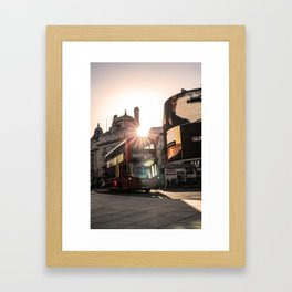 ArWork Bus Piccadily Sunset London ArtPhoto Art Framed Art Print