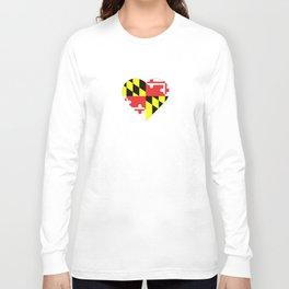 Maryland Flag Heart II Long Sleeve T-shirt