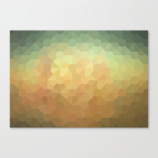 Nature's Glowing Geometric Abstract Canvas Print
