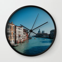 Venice grand canal Travel photography | Architecture of Venice | Pastel colored buildings | Italy Art Print Wall Clock