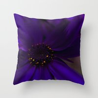 indigo Throw Pillows featuring Indigo by Marly
