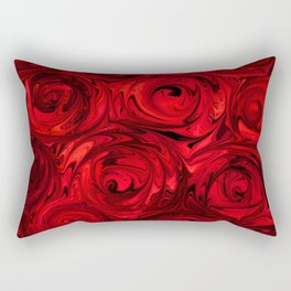 Red Apple Roses Abstract Rectangular Pillow