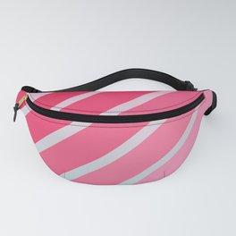 Pink Hip Retro Stripes Fanny Pack