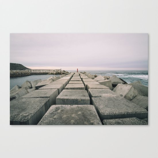 The seawall Canvas Print