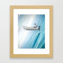 """""""Let's Rethink Space"""" by Tim O'Brien for Nautilus Framed Art Print"""