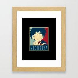 Midoriya Hope Poster Framed Art Print