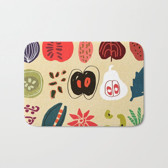 Fruit and Spice Rack Bath Mat