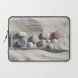Beach pebble driftwood still life Laptop Sleeve