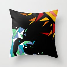 Sun and Wave Throw Pillow