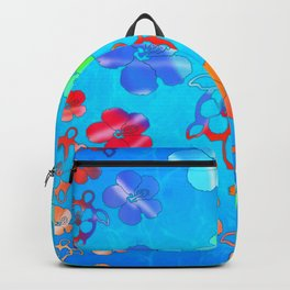 Tie Dye Honu And Hibiscus Backpack