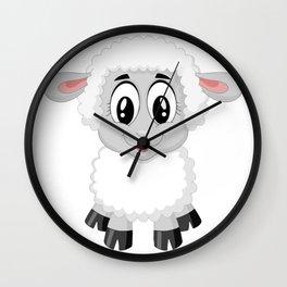 Cute Lamb Sheep Wall Clock