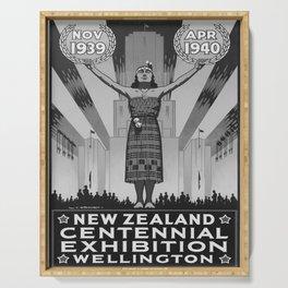 Affiche 1939 New Zealand Centennial Exhibion Serving Tray