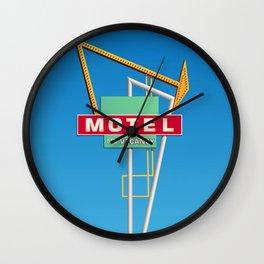 Antique Motel Sign Wall Clock