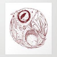 ying yang Art Prints featuring ying yang by Tapioles II