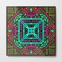 2018 Mandala #3 – Notebooks & more Metal Print
