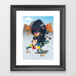 Bullfighter Framed Art Print