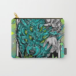 Wolf Snarl Carry-All Pouch