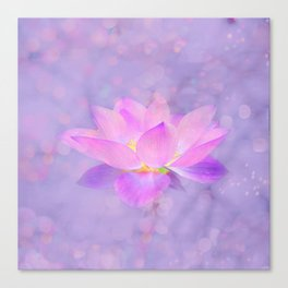 Lotus Emerging from the Water Canvas Print