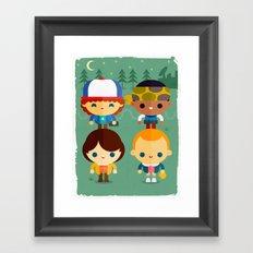 Stranger and things Framed Art Print