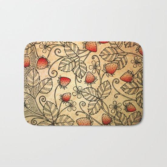 Strawberry Pattern Bath Mat