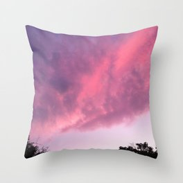 Color Bomb Sunset Throw Pillow