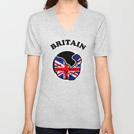 Britain Unisex V-Neck