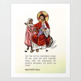 Matthew 19:14 Art Print
