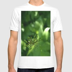 Never Loose Focus. White MEDIUM Mens Fitted Tee