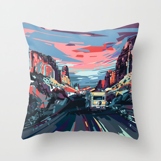 american landscape 4 Throw Pillow