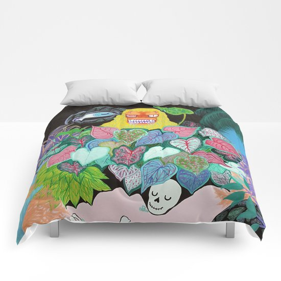 She's coming! Comforters