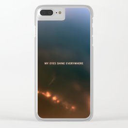 Space, cosmos, stars, nebula, glowing lights, vibrant, dark. Clear iPhone Case
