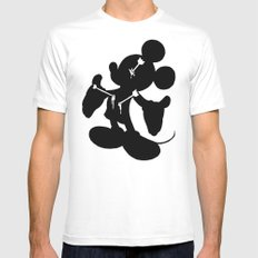Mickey is Dead No.2 Mens Fitted Tee White SMALL