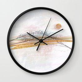 Birds Fly and So Do I Wall Clock