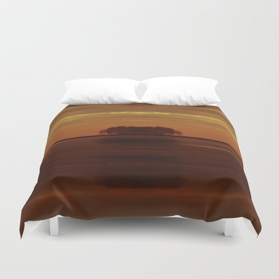 Be the island, and find yourself Duvet Cover