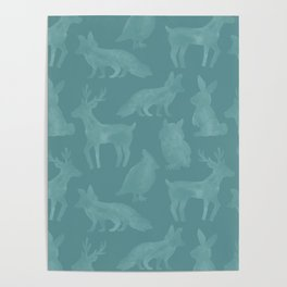 Woodland Animals Poster
