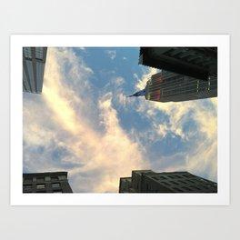 Looking up at Skyscrapers Art Print