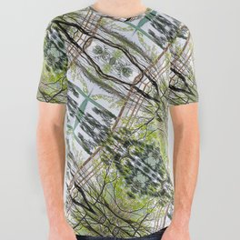 RAINY SPRING DAY AT THE DOCK IN THE WOODS All Over Graphic Tee