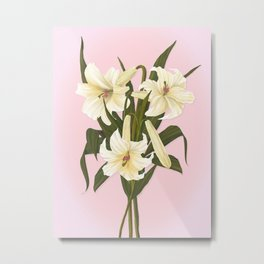 Remembrance Lilies Metal Print