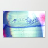 jelly fish Canvas Prints featuring Jelly Fish by Amee Cherie Piek