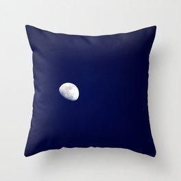 Blue Moon Blue Nights Throw Pillow