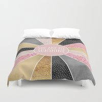 you are my sunshine Duvet Covers featuring You are my sunshine by Elisabeth Fredriksson
