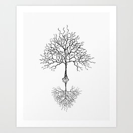 Tree of life meaning white Art Print