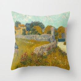 Vincent van Gogh - Farmhouse in Provence Throw Pillow