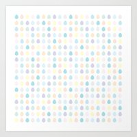 polkadot Art Prints featuring Mini Pastel Polkadot by chelsea dawn brown