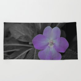 Impatient Grey Beach Towel