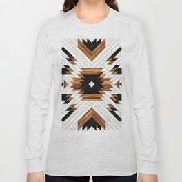 Urban Tribal Pattern 5 - Aztec - Concrete and Wood Long Sleeve T-shirt