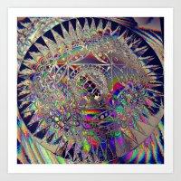 84-26-49 (Mandala Glitch) Art Print
